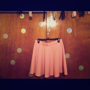 Casual Pink Skater Skirt